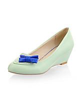 Women's Shoes Wedge Heel Wedges/Comfort/Pointed Toe/Closed Toe Pumps/Heels Office & Career/Dress Blue/Green/Pink/Beige