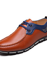 Men's Shoes Outdoor Leather Oxfords Black/Blue/Brown/Yellow