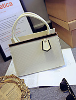 Women 's Patent Leather Baguette Tote - Beige/Pink/Blue/Green/Red/Black