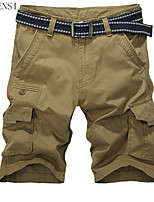 Summer shorts jeans slim solid Multi Pocket six pants pants Metrosexual pants and the wind