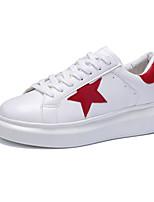Zapatos de mujer - Tacón Plano - Comfort - Zapatos de Deporte - Casual / Deporte - Semicuero - Negro / Rojo / Gris