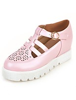 Women's Shoes Wedge Heel Wedges/Round Toe Pumps/Heels Dress Pink/White