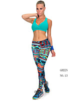 Women Cotton/Others Thin Print Legging Stretched Summer Sexy Workout Fitness Women Gym Sport Pants