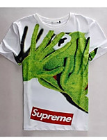 Men's High Quality Creative Special Animal Lovely Summer Breathable 3D Style T-Shirt——Big frog