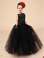 Flower Girl Dress - Palloncino A Terra Senza Maniche Raso/Tulle