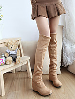 Women's Shoes Wedge Heel Fashion Boots/Round Toe Boots Office & Career/Dress/Casual Black/Brown/Yellow/Beige