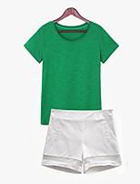 Damen T-Shirt Baumwolle Kurzarm Bateau