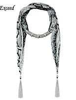D Exceed New Fashion Pop Printed Ornament Scarves with Tassels for Women