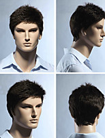 European and American Fashion Men Burst in Black Hair High Quality Wig