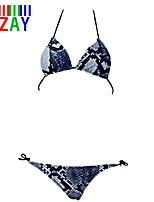 ZAY Women's Sexy Push Up Wild Snake Print Bikinis
