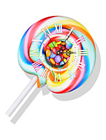 Modern/Contemporary Houses 3D Wall Clock Colorful Sweet Indoor Clock