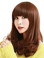 japon et au sud la mode corée avec perruque brune cheveux bouclés