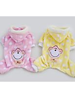 Camisola com Capuz - Inverno - Rosa / Amarelo Malha polar - para Cães - S / M / L / XL / XXL
