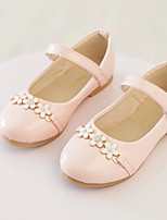 Girls' Shoes Dress/Casual Mary Jane/Comfort Leatherette Flats Black/Blue/Pink