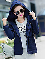 Women's Vintage Casual Medium Long Sleeve Regular Coat (Cotton Linen)