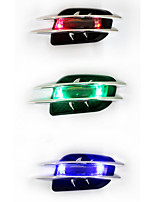 Solar Car Outlet Warning Light Universal Car ABS Chromium Styling Stickers Simulation Vents Decorative Shark Gills