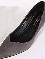 Women's Shoes Kitten Heel Pointed Toe Pumps/Heels Casual Black/Purple/Red/Gray