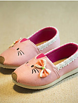 Girls' Shoes Casual Comfort Fabric Loafers Pink/Red