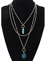 Women's Angel Crystal Bullet Gold Necklace