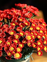 1 bouquet de fleurs 18 têtes de marguerite soies artificielles bouquet décoration maison de jardin (de couleur aléatoire)