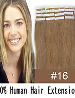 3 set di estensioni dei capelli da 22 pollici capelli nastro remy 60g / pelle set malesi umani 19 colori per le donne bellezza