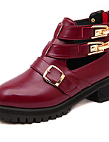Women's Shoes  Flat Heel Combat Boots Boots Casual Black/Burgundy