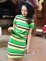 Women's Casual Micro-elastic Short Sleeve Regular Set (Knitwear)