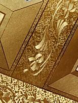 ny regnbue ™ tapet geometriske guld metal farve vægbeklædning pvc / vinyl væg kunst