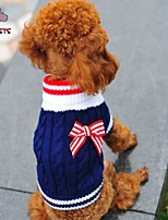 Pulls - Chiens/Chats - Mariage/Cosplay - Rouge/Bleu - en Coton/Polaire -