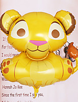 Little Cartoon Lion Shape Helium Balloon for Baby Shower Christening