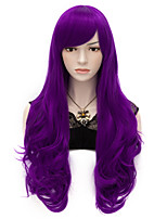 70cm Long Wavy Anime Cosplay Party Women Lady Sexy Harajuku Wig Long Party wigs Purple