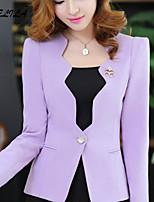 Women's Casual Long Sleeve Cotton Thin Regular Blazer