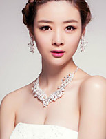 Women's Titanium/Imitation Pearl Jewelry Set Imitation Pearl/Rhinestone