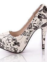 Women's Shoes Stiletto Heel Heels/Closed Toe Pumps/Heels Party & Evening/Dress/Casual White