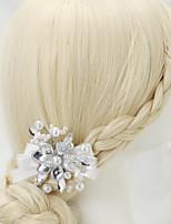 Strass Alliage Imitation de perle Casque-Mariage Occasion spéciale Pique cheveux 1 Pièce