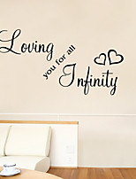 Wall Stickers Wall Decals Style Loving You For All English Words & Quotes PVC Wall Stickers