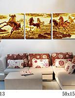 peinture à l'huile numérique bricolage avec une solide famille de cadre en bois peinture amusant tout seul le cheval au galop 7013
