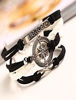 2015 Summer Hot Sell Letter(Peace) & Anchor Bracelet-Antique Plated Silver Charm Wrap Bracelet Freeshipping