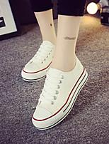 Zapatos de mujer - Tacón Cuña - Comfort / Punta Redonda - Sneakers a la Moda - Exterior / Casual - Tejido - Blanco
