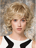 Capless Short Wavy Synthetic Hair Wigs For Womens