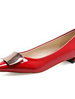 Women's Shoes Chunky Heel Comfort Pumps/Heels Outdoor Black/Purple/Red