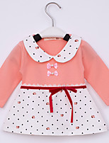 Girl's Cotton/Spandex Dress , Spring/Fall Long Sleeve