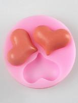 trois amour moule en forme de gâteau fondant au chocolat de silicone, des outils de décoration ustensiles de cuisson