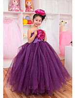 Performance Dresses Children's Performance Polyester Pleated 1 Piece Pink/Purple/Red/White