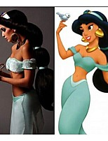 Cosplay hair wig Anime Aladdin Jasmine princess Long Black Wig,classic halloween women Cosplay Wig