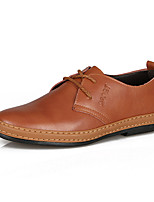 Men's Shoes Outdoor Leather Oxfords Brown/Yellow