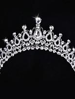 Bride's Flower Shape Crystal Rhinestone Forehead Wedding Hair Clip 1 PC