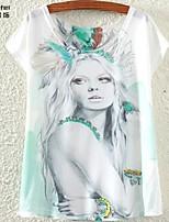 Women's White T-shirt Short Sleeve