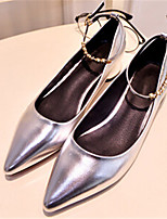 Women's Shoes  Heel Pointed Toe Pumps/ Dress Black/Silver