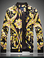 Men Coat Jacket Chinese wind flower jacket bigger sizes fatty jacket